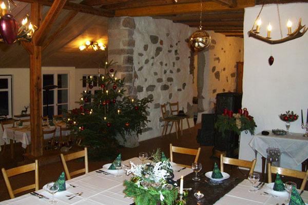 Das historische Backhaus weihnachtlich geschmückt