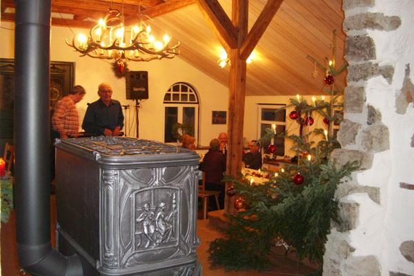 Das historische Backhaus: weihnachtliches Ambiente